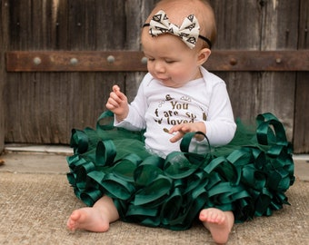f6d9b059820e Hunter green tutu, girls Christmas dress, holiday dress, Christmas skirt, newborn  girl Christmas outfit, baby girl Christmas dress, TWHR