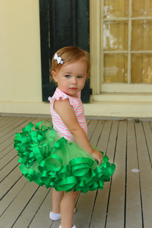 8b27b93834d4 Emerald Green Tutu girl dinosaur party fairy birthday party