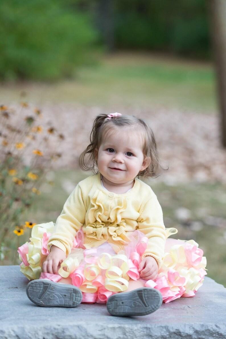 Ribbon Tutu for Toddler NB Carousel Dress for Photoshoot Girls Pastel Tutu Dress for Girls Fancy Toddler Dress Unicorn Size 12 T19A