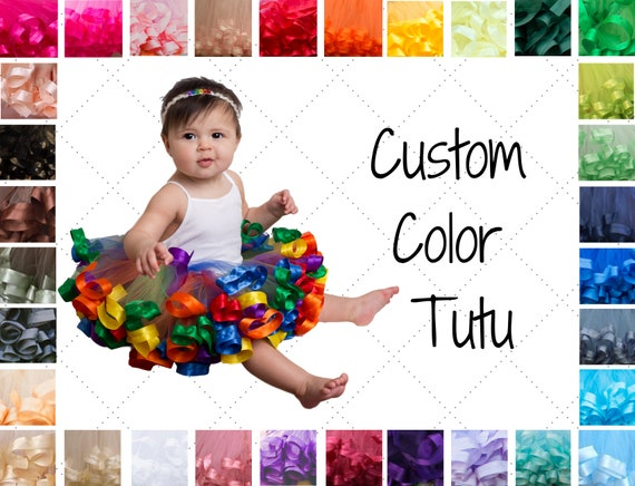 little dancer baby shower 1st birthday baby girl personalized name on ribbon custom baby gift Baby tutu