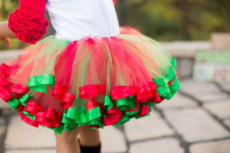 Strawberry Tutu Dress for Girls Dance Outfits Red and Green Dress for Toddler Little Girl Tulle Skirt for Kids Size 12 T16A Newborn