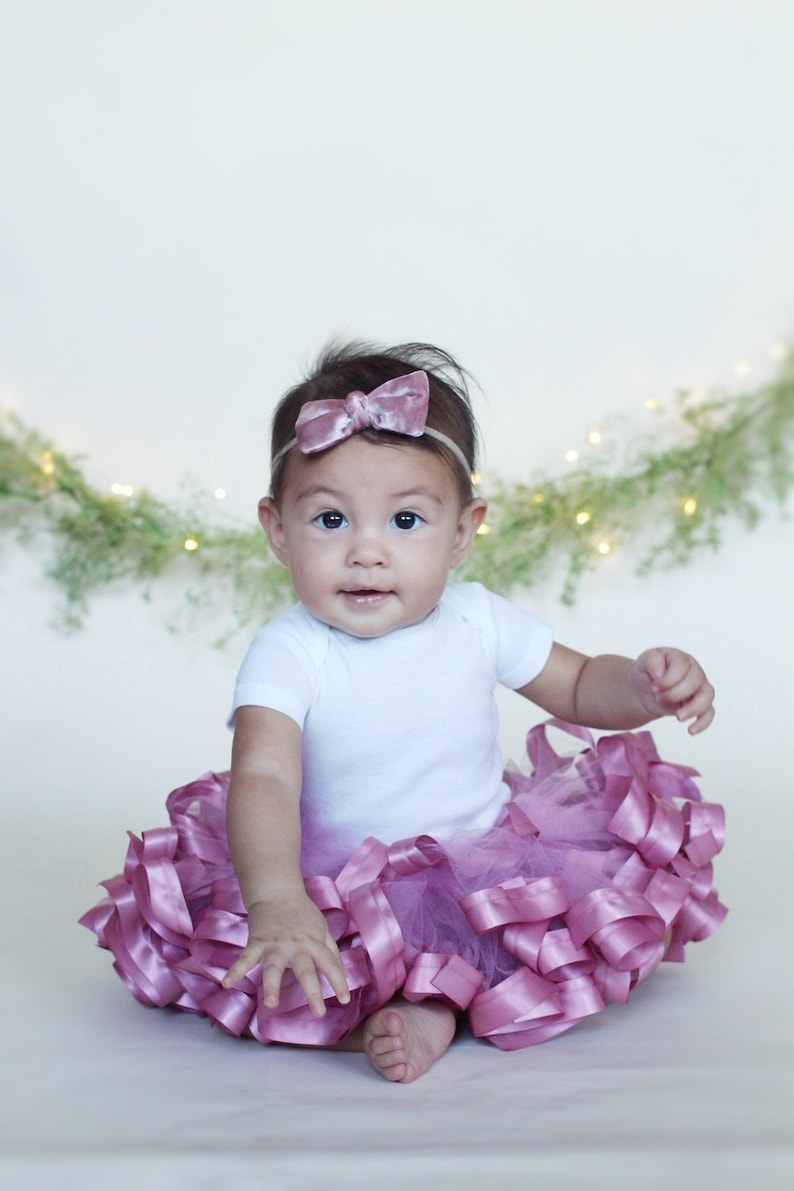 618eadcf90b8 Mauve Pink Tutu birthday tutu dress first birthday girl | Etsy