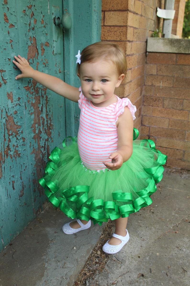31492a2c059 Emerald Green Tutu baby dress for wedding baby flower girl