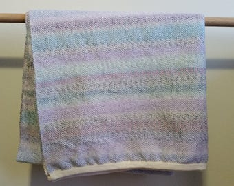 Woven - pink, purple and blue baby blanket