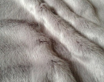 Super Luxury Faux Fur Fabric - SWISS OPAL GREY 63df8b58b21f5