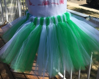 Green and White Tutu