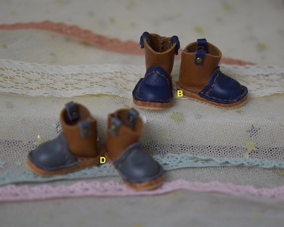 Doll Shoes Leather boots handmade For Blythe Pullip Holala