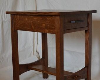 Stickley Inspired Craftsman Quartersawn Oak Nightstand