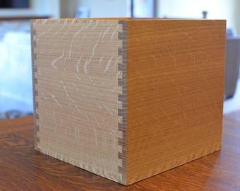 Craftsman Oak Trash Bin