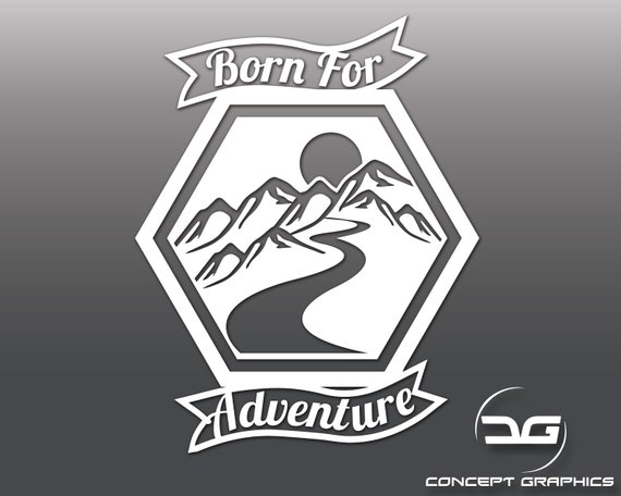 Stay Adventurous Funny Car Caravan Camper Van Joke Adventure Vinyl Decal Sticker