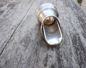 Vintage Silver Plate Bottle Pour Spout, No Drip Vintage Wine Cork, Silver Bottle Topper, Retro Barware