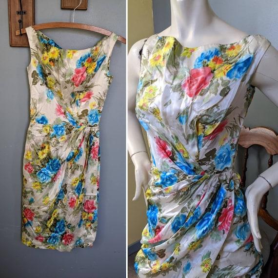 Vintage Ceil Chapman Wiggle Dress // 50s Pinup Bom