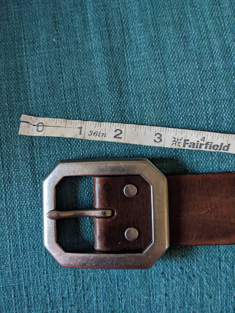 Size 36 Western Leather Belt Vintage Riveted Leather Belt