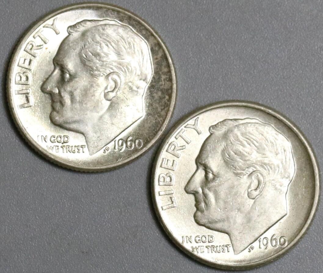 Mint UNC 1960 D Roosevelt 90/% Silver Dime