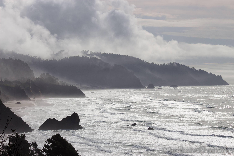 Coastline photography oregon coast black and white ocean pacific northwest canvas metal print art print photo print free shipping