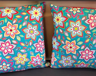 Flower Pillow covers 18x18