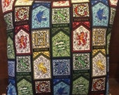 Harry Potter Houses Stain Glass Pillowcase
