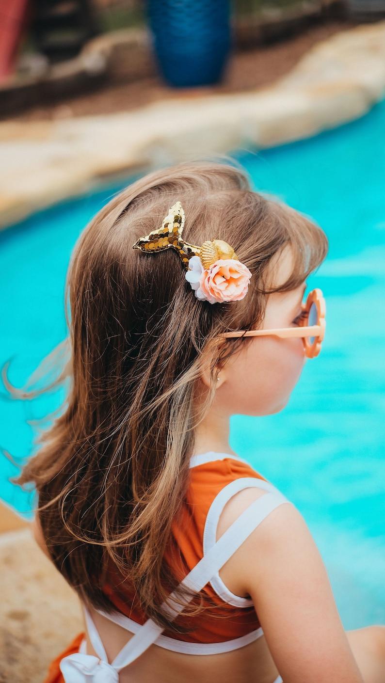 Mermaid Headband Gold Mermaid Hair clip