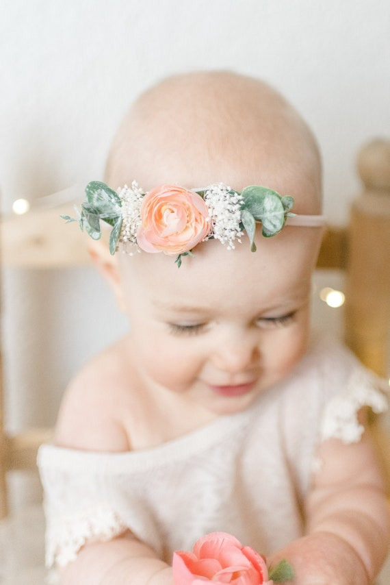 Baby Flower Headband or Flower Hair Clip