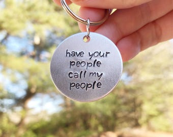 Have Your People Call My People - Dog Tag - Dog id Tag - Cat ID Tag - Silver Pet ID Tag - Funny Dog Tag - Pet Name Tag - Pet ID Tag