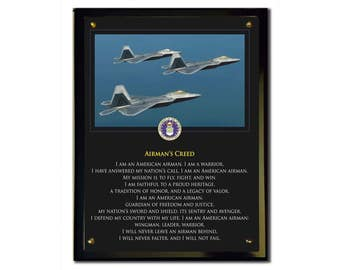 Airman's Creed Plaque