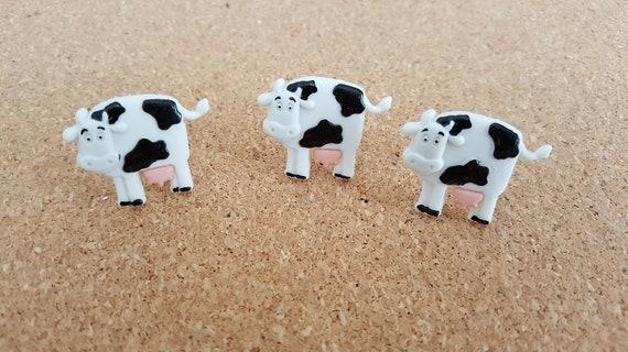 Vache Push Pins, cadeau, cadeau de professeur, je vous remercie, d'anniversaire, amant de bienvenue, animal, tableau en liège, babillard