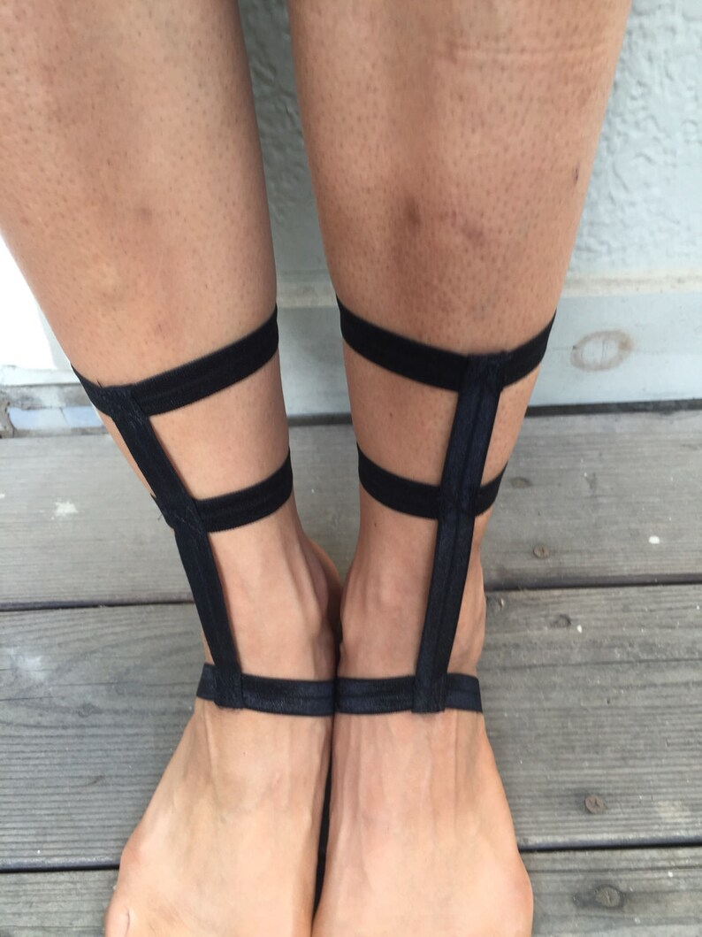 e0eeaf230 Satin barefoot sandals Footsies dance footwear