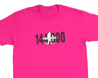 Woman's Dark Pink Fringed 144,000 House of Israel Tshirt