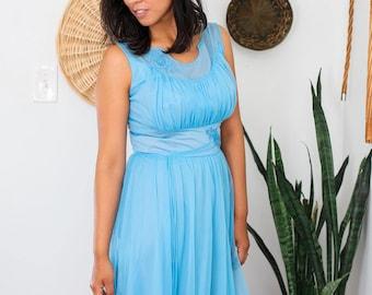 Vintage sky blue slip dress