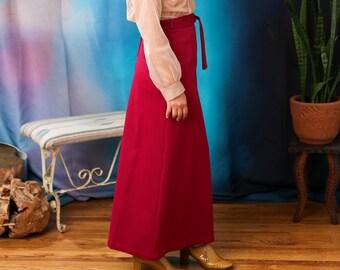 Vintage fuchsia maxi skirt