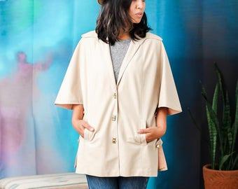 Vintage button front cape style jacket