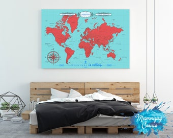 Interactive travel map world map poster pin country travels etsy housewarming gift push pin travel map world travels map travel map world map push pin map welcome sign push pin trip planner mapaa gumiabroncs Images