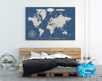 Interactive travel map world map poster pin country travels etsy push pin travel map world travels map travel map world map push pin map welcome sign push pin housewarming gift trip planner mapaa gumiabroncs Images