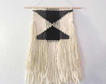 Woven Wall Hanging in Black and White