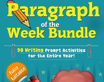 Paragraph of the Week| Homeschool Teaching| Grades 4-7| Writing Unit| Writing Bundle| Elementary Teaching| Expository| Opinion| Narrative|