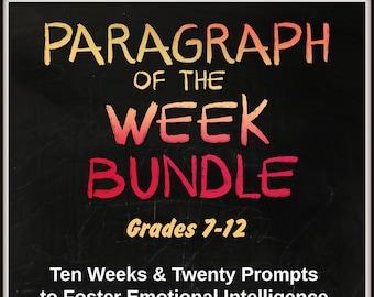 Homeschool| Middle School Teaching| High School Teaching| Paragraph of the Week| Writing Lessons| Social Emotional Domain| Home School