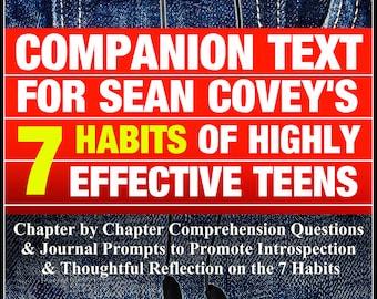 LA| Homeschool| 14 Week Unit| Social Skills| Lesson Plans| Unit Plans| 7 Habits of Highly Effective Teens|  Health| Character Education