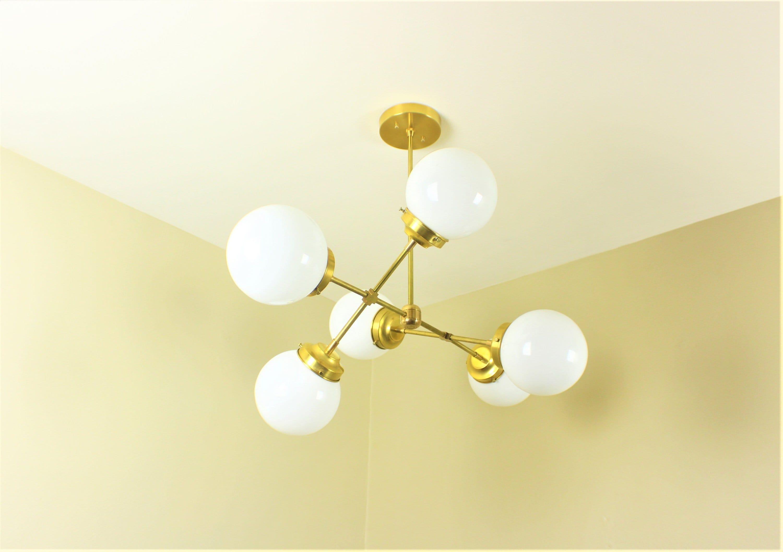 Industrial Chandelier Mid Century Modern Hanging Light
