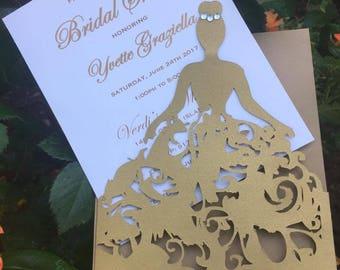 Bridal Shower insert invitation