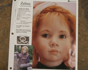 Seeley's Zelma painting sheet, body pattern and outfit pattern set