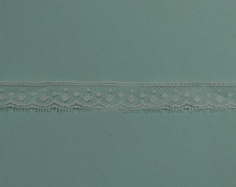 "Beautiful  3/4"" wide delicate  white lace"