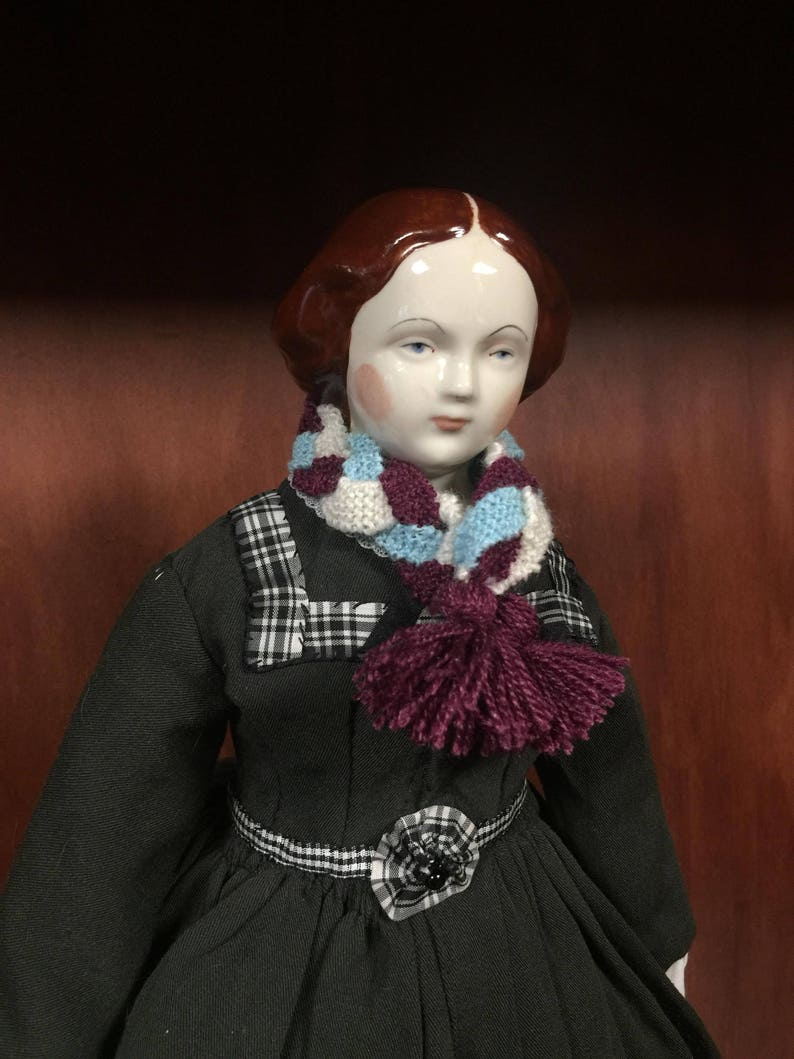 Reproduction 1860 Petersons  Ladies Knitted Scarf Doll size image 0