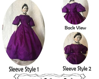 """18"""" China head doll ball gown pattern printed pattern"""