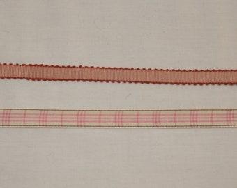 Pink Rose ribbon trim two styles