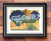 Fayetteville Farmers Market illustrated print – Arkansas art poster
