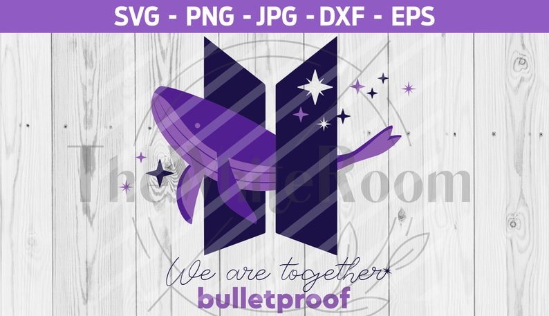 BTS cut file png eps Bangtan dxf Instant download BTS Logo SVG digital file