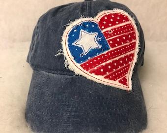 Scrappy Heart Patch Cap