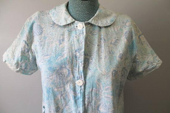 Washing Day Dress - 1930s feedsack floral button … - image 3