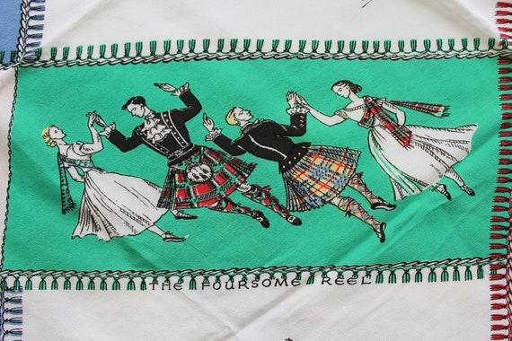 RARE 1940s cold rayon Scottish souvenir, highland… - image 4