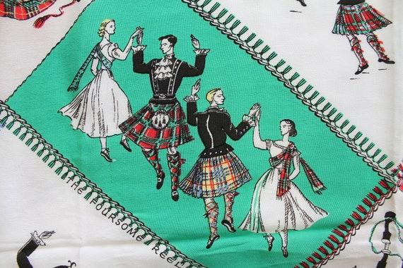 RARE 1940s cold rayon Scottish souvenir, highland… - image 6